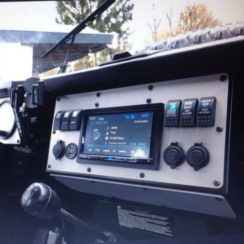 Defender & S111 Double Din Console Dash